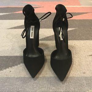 Steve Madden - tall suede block heel w ankle tie